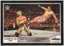 2014 Topps WWE Road to Wrestlemania #16 Alberto Del Rio