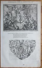 R. de Hooghe: Bible Engraving Apostle St. Paul Decorative Vignette Lion - 1704