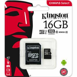 Kingston 16 GB Micro SD SDHC TF-Speicherkarte Klasse 10 Memory Card für GPS