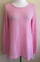 Women's Pink Long Sleeve Chelsea & Theodore Textured Top Sweater Small