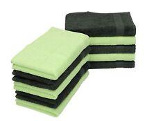 Betz Lot de 10 serviettes débarbouillettes PALERMO taille 30x30 cm couleurs gris