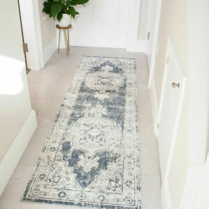 Traditional Hallway Runner Rugs Distressed Transitional Flatweave Hall Runners