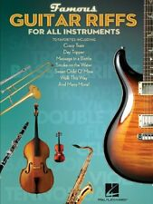 FAMOUS GUITAR RIFFS FOR ALL INSTRUMENTS MUSIC BOOK-BRAND NEW ON SALE SONGBOOK!!
