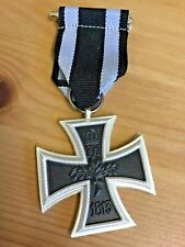 IRON CROSS MEDAL 1813-1914 GERMAN COMPLETE WITH RIBBON Repro WW 1 11