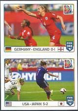PANINI-2016 FIFA 365- #056-057-2015 WORLD CUP-GERMANY 0 ENGLAND 1-USA 5 JAPAN 2