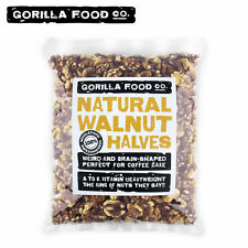 Gorilla Food Co. Raw Walnut Light Halves (Only Halves) - 1 Pound Resealable Bag