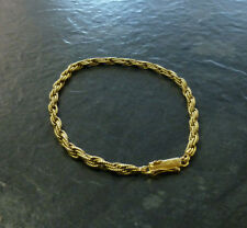 Ausgefallenes Goldarmband Kordel 585er Gold Armband Gelbgold GG 14 Karat 19, 3 cm 62cb1c7f6b