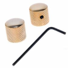 2 pcs Bronze Dome Guitar Knob Screw Style Solid Shaft Gold for Guitar Bass parts