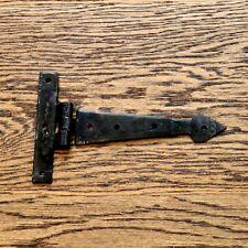COPPIA da 6 Pollici T Cerniere Tee Cerniera Cinturino Cerniere Nero Vintage Freccia Ferro Battuto