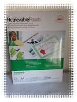 Paquet de 25 Pochettes de Plastification Réversibles A4 2 x100 Microns  GBC