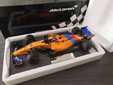 "Minichamps Mclaren MCL33 Fernando Alonso "" Abu Dhabi GP 2018 "" 1/18 OVP TOP"