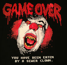 Stephen King's IT Pennywise Game Over Teefury shirt NEW & UNWORN Sewer Clown