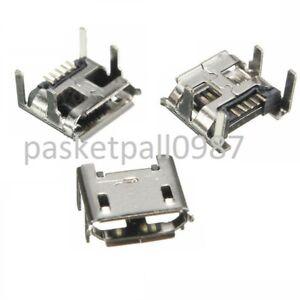 10x Mini USB 5 polig SMD SMT Ausschluss Buchse Löten Steckverbinder Micro Socket
