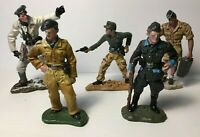 5 x Painted Metal Figures of Various German WWII Soldiers