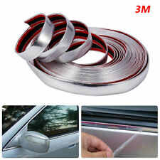 3M 20mm Car Truck Chrome DIY Moulding Trim Strip For Grille Window Door Bumper