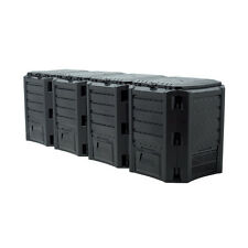 Prosperplast Garten Komposter - 1600L, Schwarz, 2 Stück