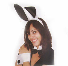 Sexy Satin Bunny Womens Headband Ears Bow tie & Tail  Adult Halloween Costume
