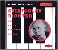 Sviatoslav Richter Russian pianoforte School 6 BACH BEETHOVEN CHOPIN Haydn CD BALLATA