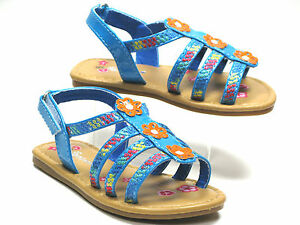 Hot New Toddler Girl's Adorable Sandals, Size 3-12 Black - Pink -White -Blue