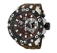 Swiss Made Invicta 0907 Subaqua Reserve Chronograph Brown Dial Men's Watch