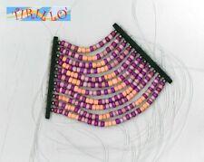 BIGIOTTERIA - Elemento a fili di perline di legno - viola e arancio