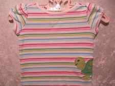 """Gymboree """"Tennis Match"""" Wrap Around Turtle White Stripe Top, 3-6 mos."""