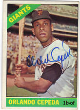 1966 Topps #132 ORLANDO CEPEDA Autographed card