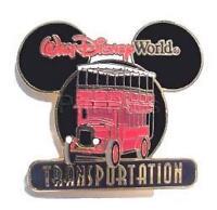 Disney WDW Transportation Double Decker Bus Pin