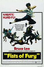 Fist Of Fury - Jing wu men (1972) Bruce Lee cult movie poster 24x36 inches