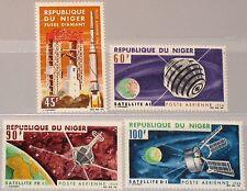 Níger 1966 124-27 c58-61 French achievements in Space espacio satellites mnh