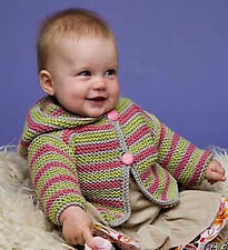 Knitting Pattern -Baby/Toddler Hoodie Cardigan  (4 sizes) PO092