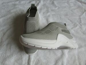 NEW SILVER MESH SLIP ON WEDGE TRAINERS SIZE 5/38 LADIES/OLDER GIRLS