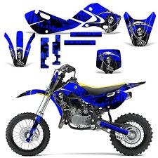 Decal Graphic Kit Kawasaki KLX110 KX65 KX Dirt Bike Suzuki RM65 DRZ110 REAP BLUE