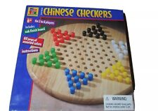 Vintage 1999 Pavilion Chinese Checkers Solid Wood Board Game Oak Finish
