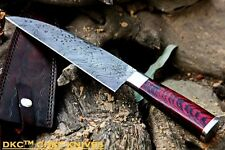 "DKC-194 ZATORI CHEF Knife Damascus Blade 7"" Rosewood Handle 5"" 12"" Overall 10oz"
