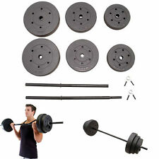Home Gym Workout 100 lbs Weight Set Grip Plate Weights Barbell Lifting Plates