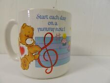 1984 Care Bear Start Each Day With A Yummy Note Mug American Greetings