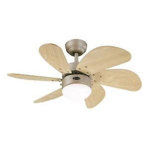 Westinghouse Lighting 78158 Turbo Swirl One 76 cm Six Indoor Ceiling Fan,