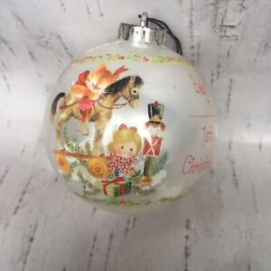 Vintage Retro Kitsch Baby's First Christmas Bauble Decoration