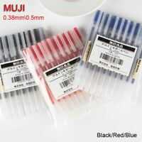 10PCS Japan MUJI Gel Ink Ball Point Pen 0.38/0.5mm School Office Moma Ballpoint