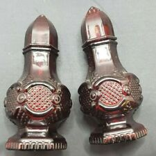 Vintage Avon Ruby Glass Salt and Pepper Spice Shakers