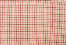 by the half yard ~ Plaid Homespun ~ Pink Wine Fern Green ~ 100% Cotton BTHY New!