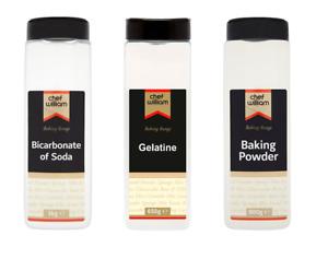 Chef William Gelatine, Bicarbonate of Soda,Baking Powder