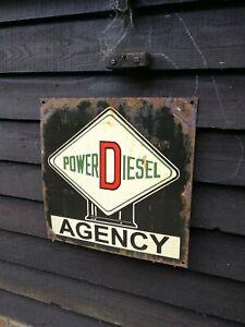 Power Diesel Enamel Sign Power Diesel enamel sign power pump sign patent enamel