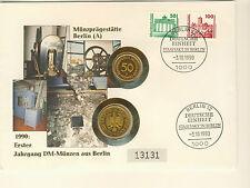 Numisbrief Deutschland Münzprägestätte Berlin (A) 1990 1 DM + 50 Pfennig