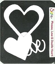 SIZZLITS DIE cuts 3 shapes TWO HEARTS & LOVE from RARE 2006 LIMITED EDITION SET