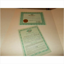 CABBAGE PATCH SOFT SCULPTURE BIRTH CERT/ADOPT PAPER AQUA MARINE ed 88 pic 1 set