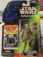 MOC Star wars ENDOR REBEL SOLDIER Power of the Force Freeze Frame armée erreur .00
