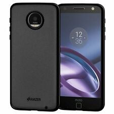 AMZER Pudding Matte TPU Case Skin Back Sleek Cover For Motorola Moto Z - Black