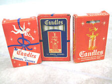 Vintage White Christmas Candles Angel Chimes Holland 36 candles; 2 used; Sweden